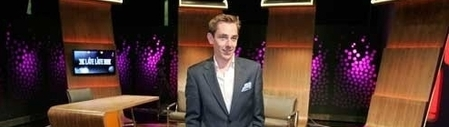 Ryan Tubridy on the set of the Late Late Show